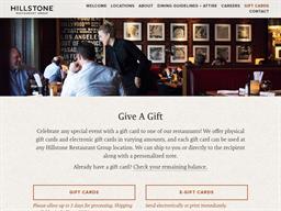 Hillstone Restaurant Group gift card purchase