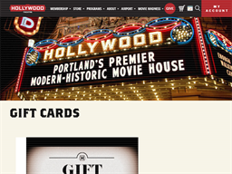 Hollywood Theatre gift card purchase