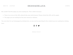 Dean and DeLuca gift card balance check