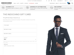 Indochino gift card purchase