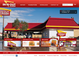 In N Out Burger shopping