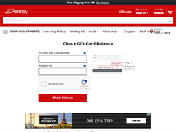 JCPenney gift card balance check