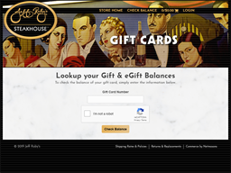 Jeff Ruby Steakhouse gift card balance check