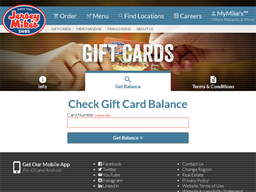 Jersey Mikes Subs gift card balance check