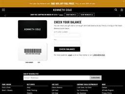 Kenneth Cole gift card balance check