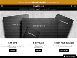 Kenneth Cole gift card purchase