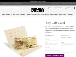 Kay Jewelers gift card purchase
