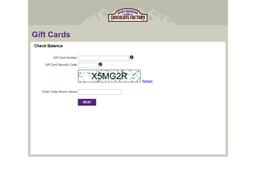Rocky Mountain Chocolate Factory gift card balance check