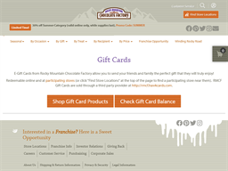 Rocky Mountain Chocolate Factory gift card purchase