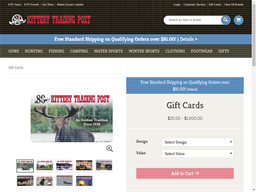 Kittery Trading Post gift card purchase