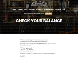 Kruse & Muer Restaurants gift card balance check