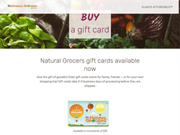 Natural Grocers gift card purchase