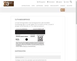 G3 Shopping Resort Gerasdorf gift card balance check