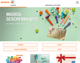 Migros gift card purchase