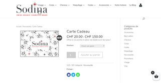 Sodina gift card purchase