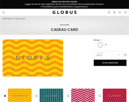 Globus gift card purchase