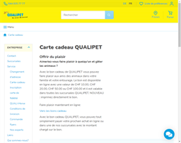 Qualipet gift card purchase