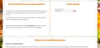 karussel Kreuzlingen gift card balance check