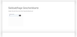 zugerland Steinhausen gift card balance check