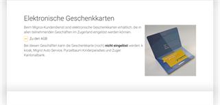 zugerland Steinhausen gift card purchase