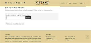 Gstaad gift card balance check