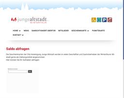 junge altstadt Winterthur gift card balance check