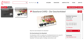 Baselland Tourismus gift card purchase