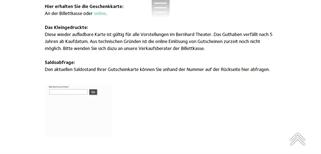 Bernhard Theater gift card balance check