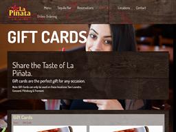 La Pinata gift card purchase