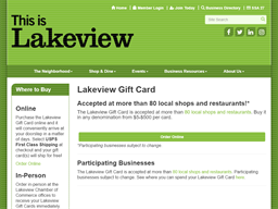 Lakeview Chamber of Commerce gift card purchase