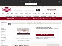 Omaha Steaks gift card balance check