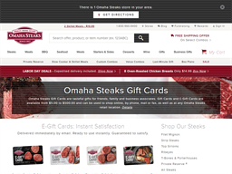 Omaha Steaks gift card purchase