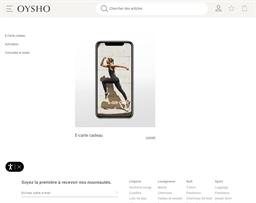 Oysho gift card purchase