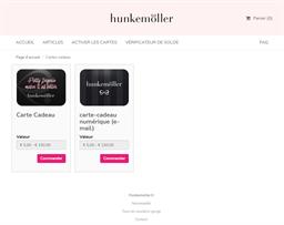 Hunkemöller gift card purchase