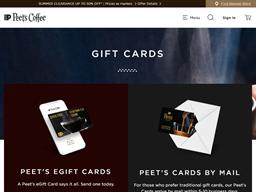 Peets Coffee & Tea gift card balance check
