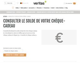 Veritas gift card balance check