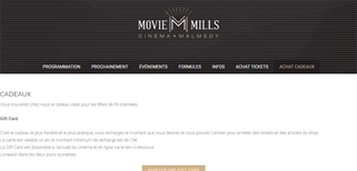Movie Mills gift card purchase