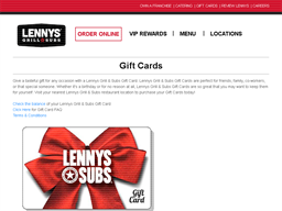 Lenny's Grill & Subs gift card purchase