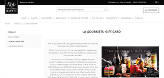 Rob The Gourmets Market gift card purchase