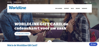 Cadeaukaart Worldline gift card purchase