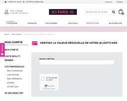 ICI Paris XL gift card balance check