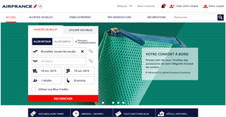 Air France Belgium shopping