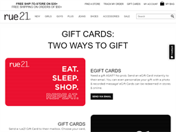 Rue21 gift card purchase