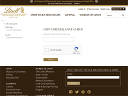 Lindt Chocolate gift card balance check