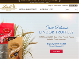 Lindt Chocolate shopping