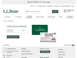 LL Bean gift card balance check