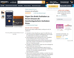 Amazon gift card purchase