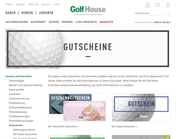 Golf House gift card purchase