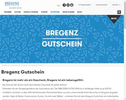 Bregenz Gutschein gift card purchase