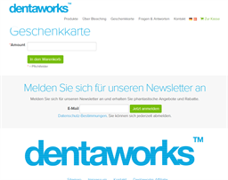 Dentaworks gift card purchase